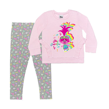 Trolls Toddler Girls 2-pc. Legging Set, 2t , Pink