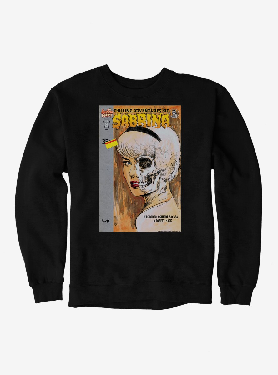 Archie Comics Chilling Adventures of Sabrina Half Skull Sweatshirt