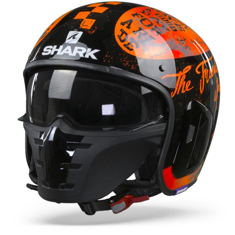 Shark S-Drak 2 Tripp In Casco Jet Negro Naranja 2XL