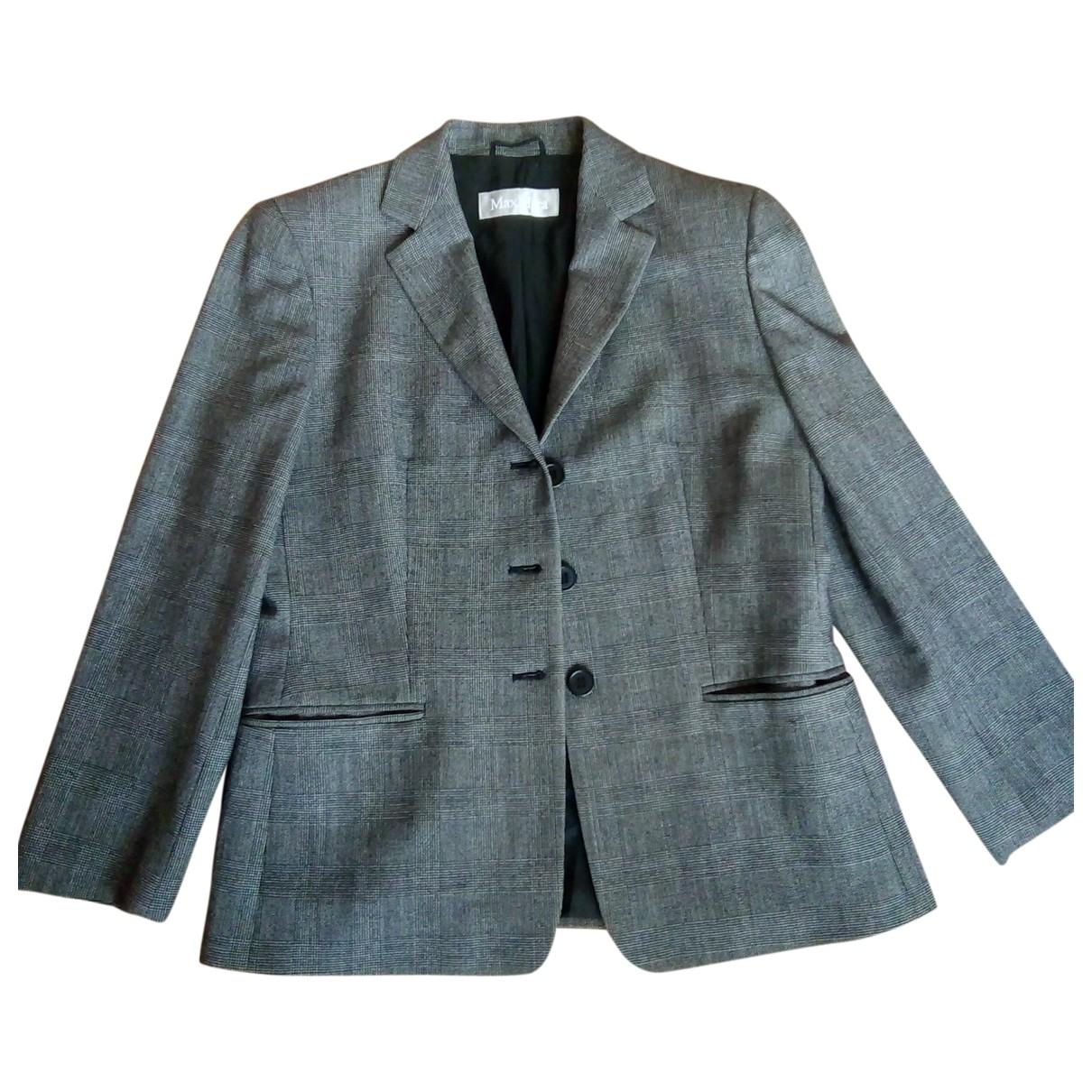 Max Mara \N Grey Wool jacket for Women 14 UK
