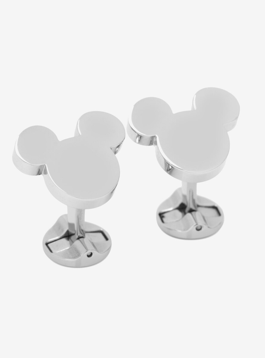 Disney Mickey Mouse Silhouette Stainless Steel Cufflinks
