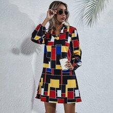 Vestidos Geometrico Casual