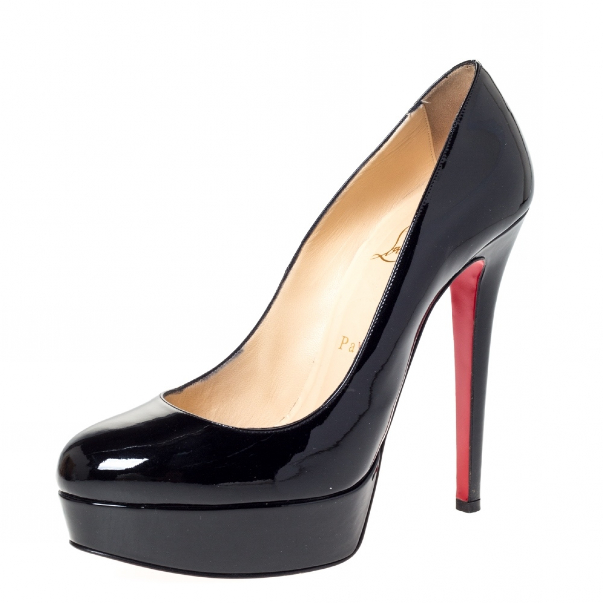 Christian Louboutin Bianca Black Patent leather Heels for Women 7 US