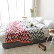 1 Stueck Decke mit Farbblock