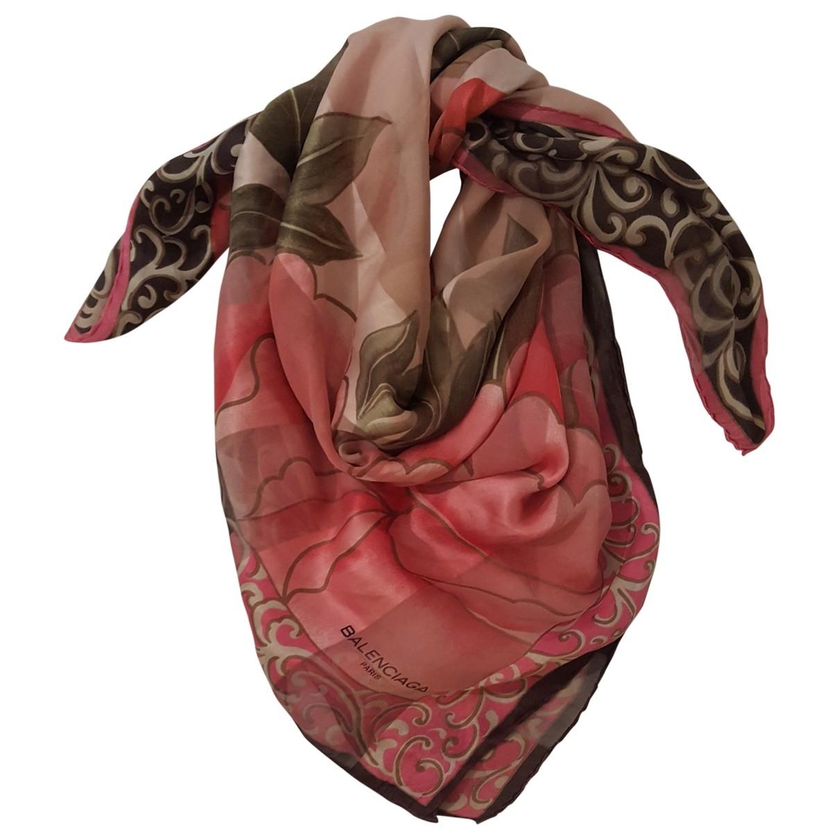Balenciaga - Foulard   pour femme en soie - multicolore
