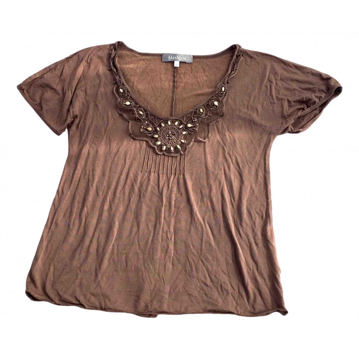 Max Mara \N Brown Cotton  top for Women 32 FR