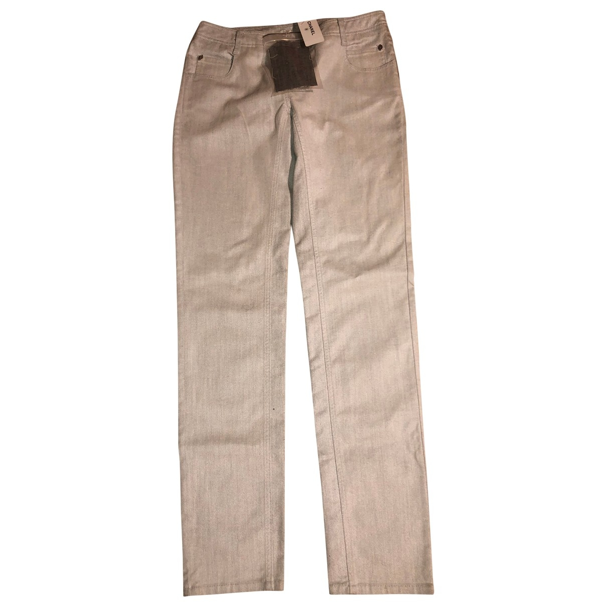 Chanel \N Grey Cotton Jeans for Women 44 FR