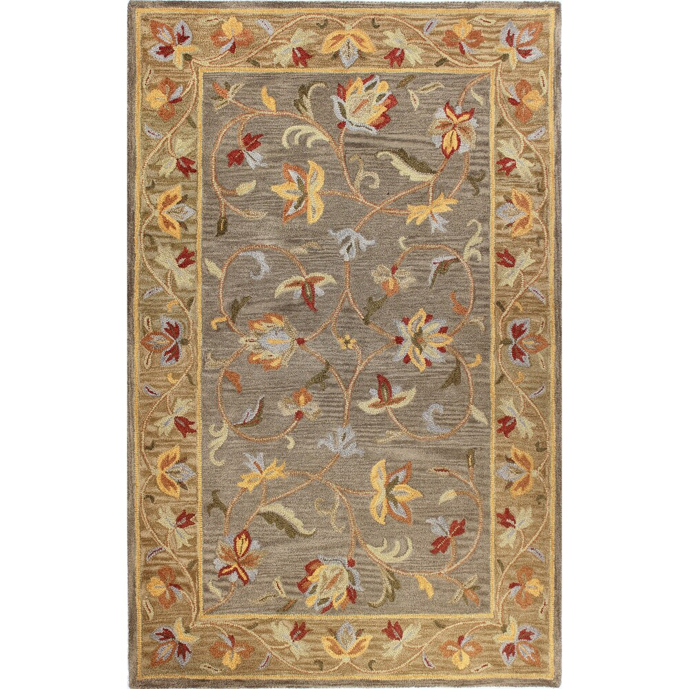 Priory Transitional Hand Tufted Area Rug (Grey 76 x 96)