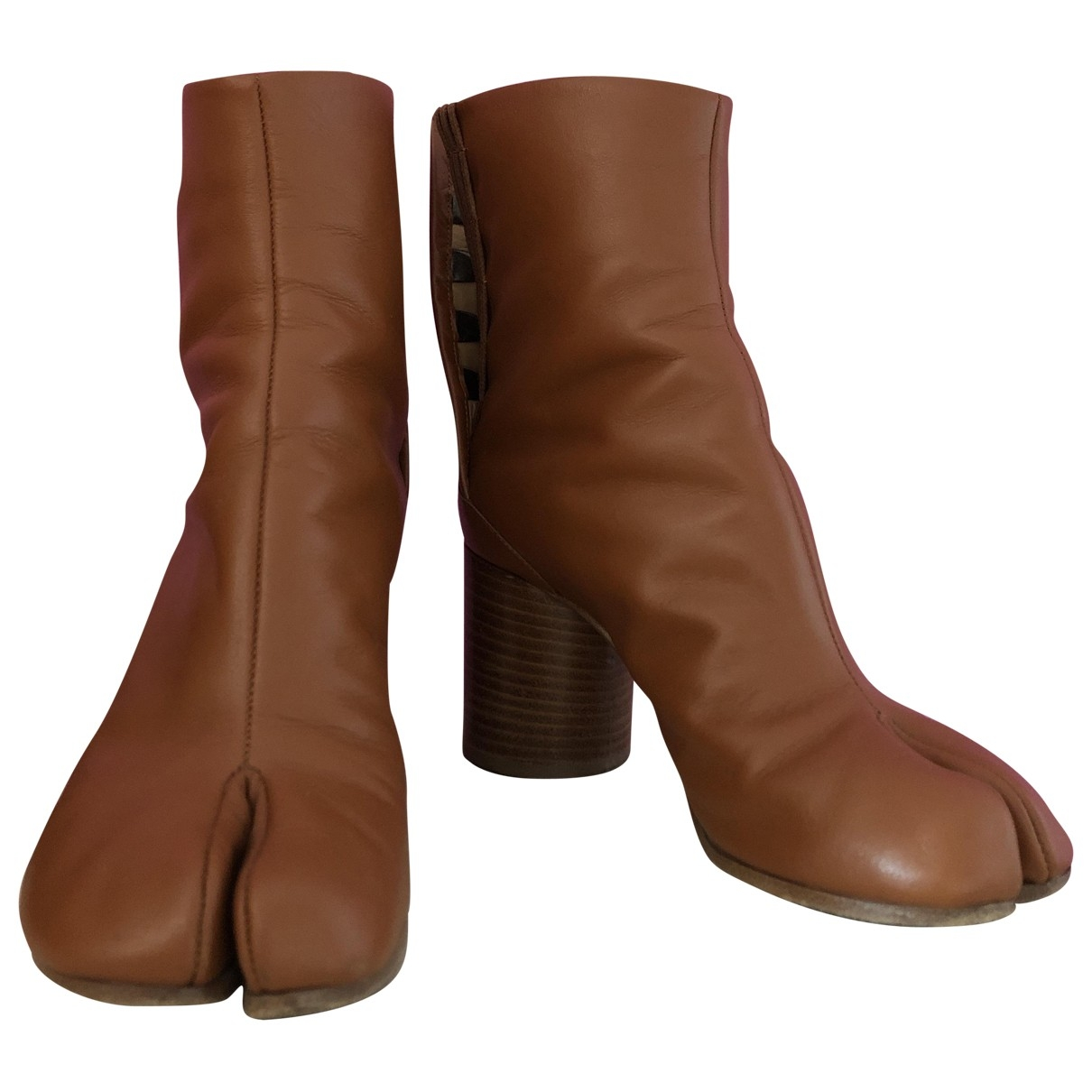 Maison Martin Margiela Tabi Brown Leather Ankle boots for Women 36 EU
