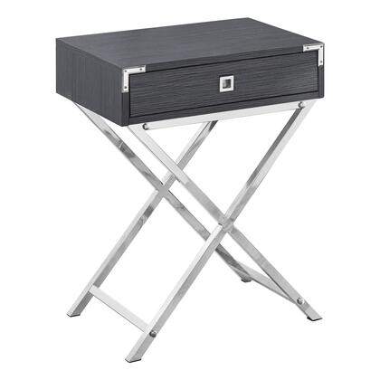 I 3554 Accent Table - 24H / Grey / Chrome