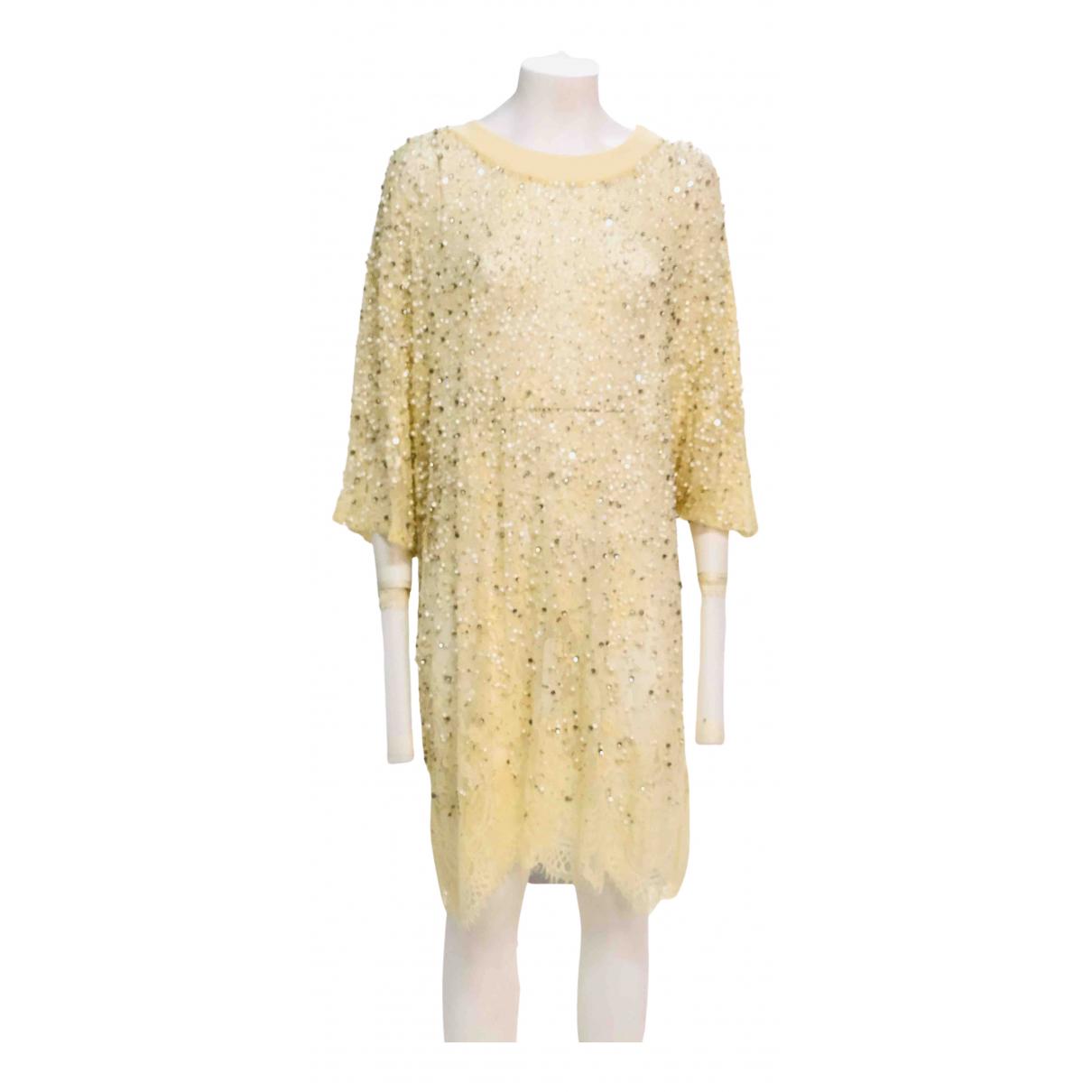 Amen Italy \N Kleid in  Gelb Mit Pailletten