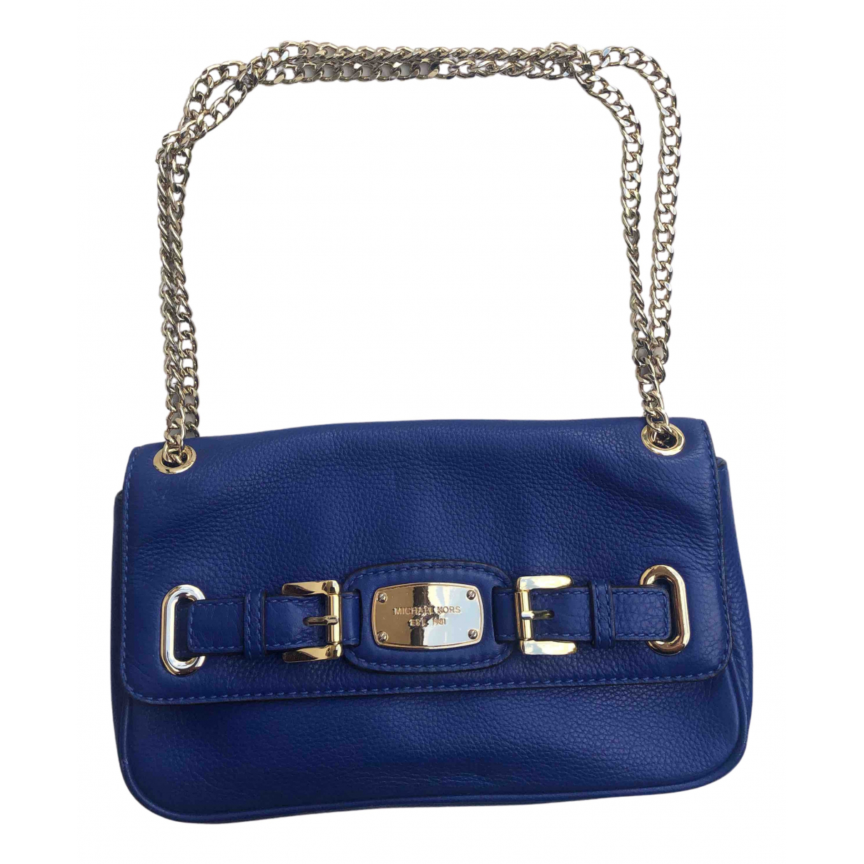 Michael Kors \N Clutch in  Blau Leder