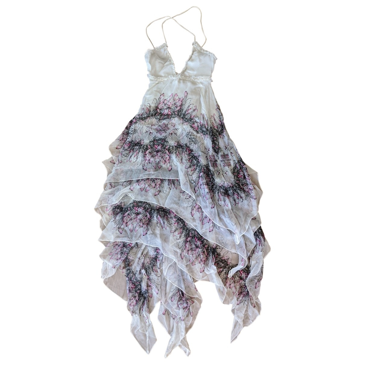 Thomas Wylde \N Kleid in  Weiss Seide