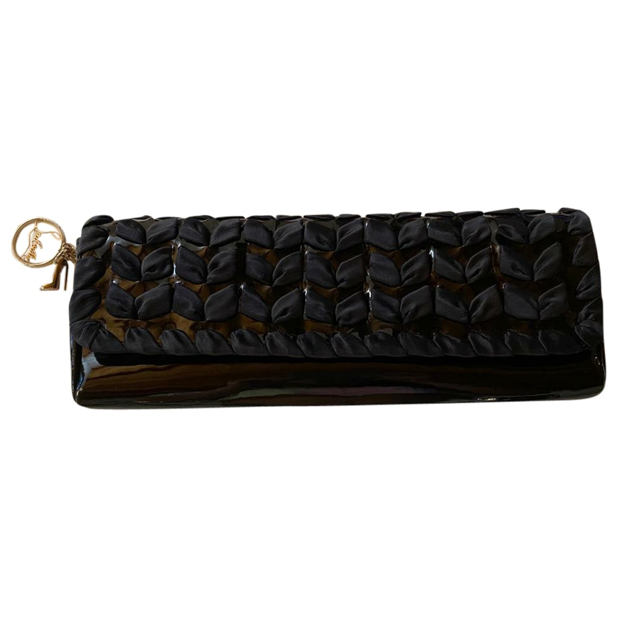 Christian Louboutin Riviera Black Leather Clutch bag for Women \N