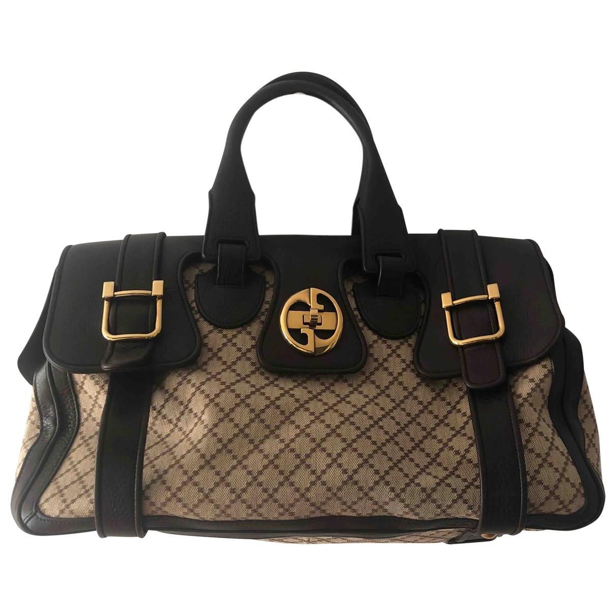 Gucci 1973 Handtasche in  Braun Leinen