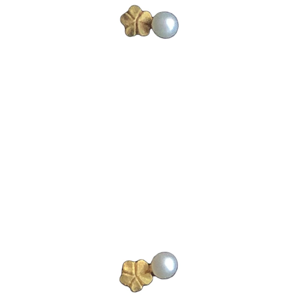 - Boucles doreilles   pour femme en plaque or - blanc