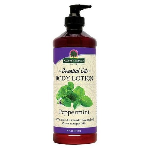 Essential Oil Body Lotion Peppermint 16 Oz by Natures Answer