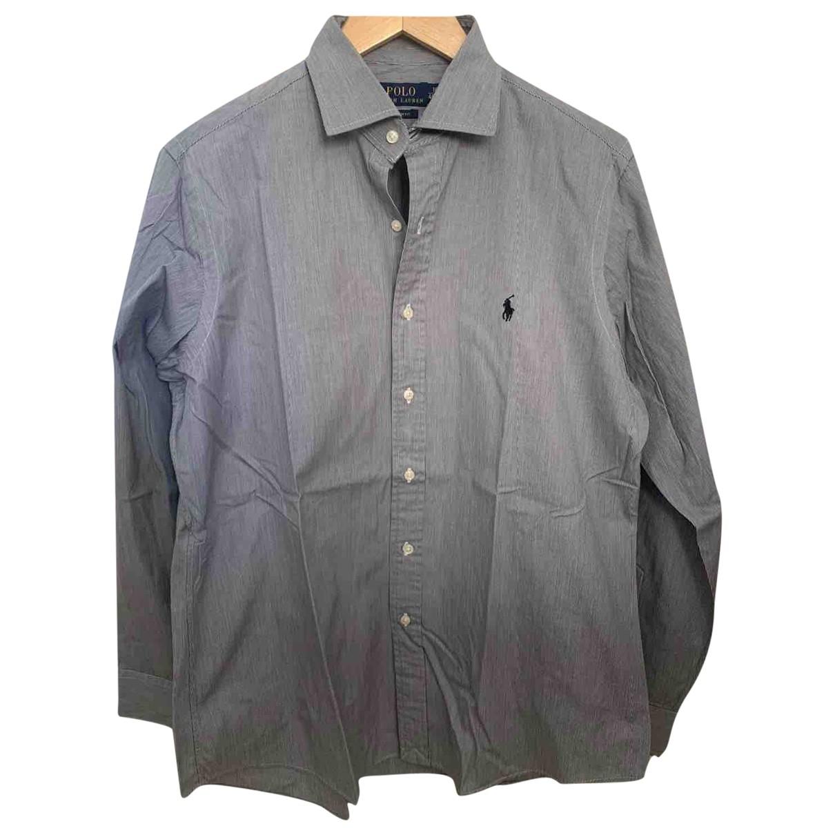 Polo Ralph Lauren - Chemises   pour homme en coton - gris