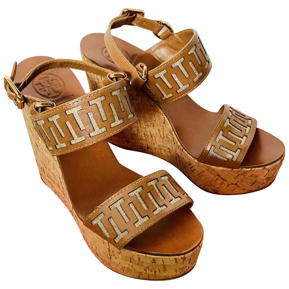 Tory Burch \N Beige Leather Sandals for Women 39.5 EU