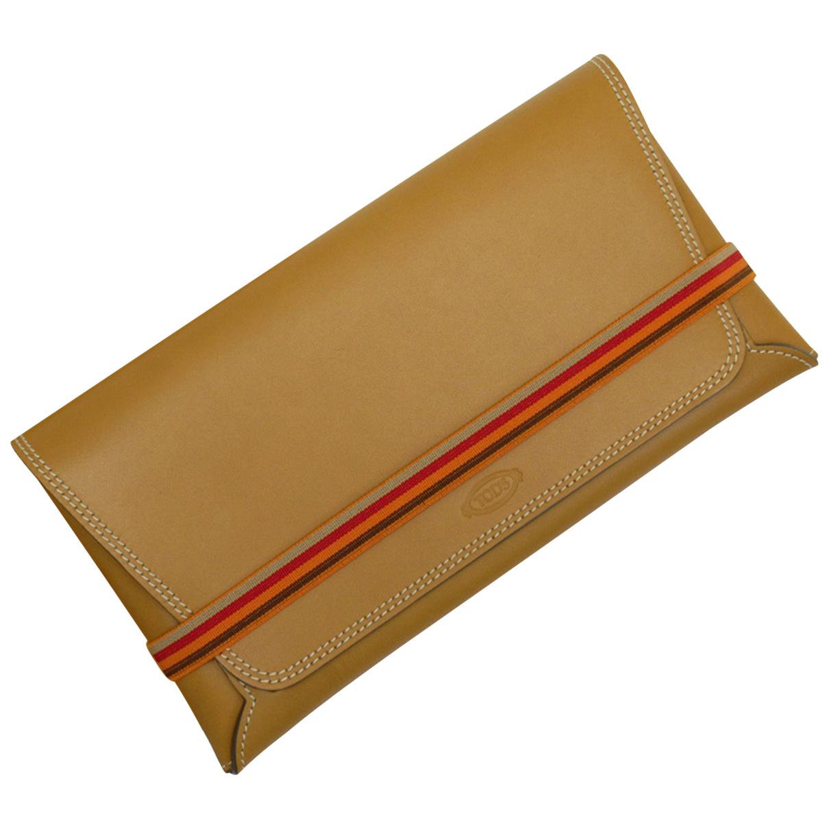 Tods - Pochette   pour femme en cuir - marron
