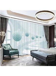 European Style Modern Art Gallery 3D Printed Sheer Curtains