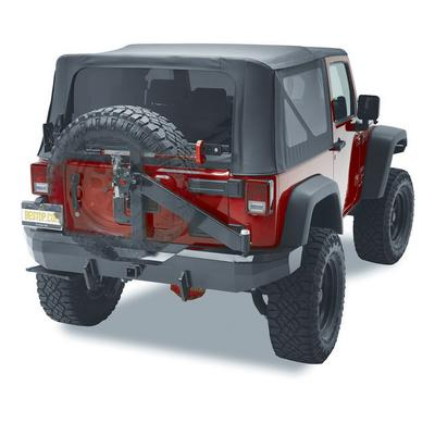 Bestop HighRock 4x4 Rear 2 Inch Receiver Hitch Bumper with Swing Out Tire Carrier (Black) - 44934-01