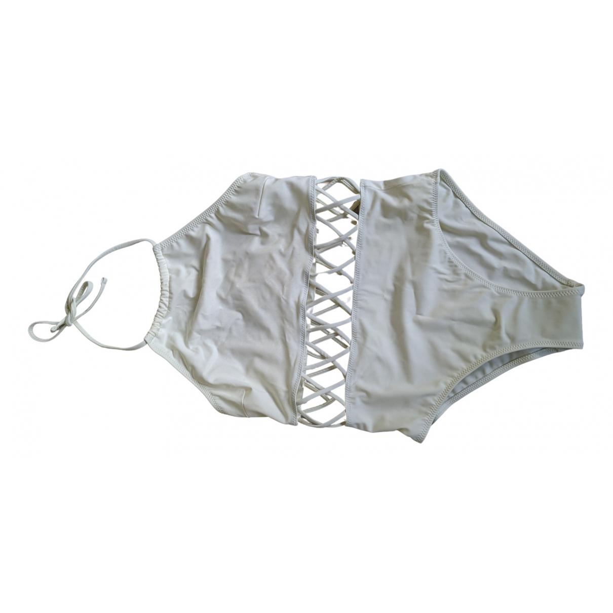 Solid & Striped \N Badeanzug in  Ecru Lycra