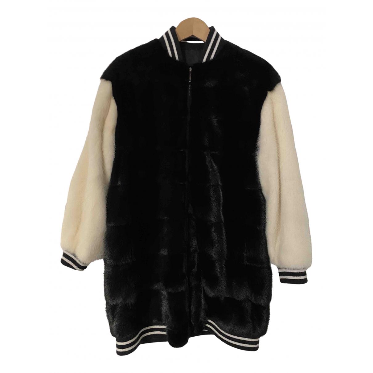 Blancha - Manteau   pour femme en vison - noir