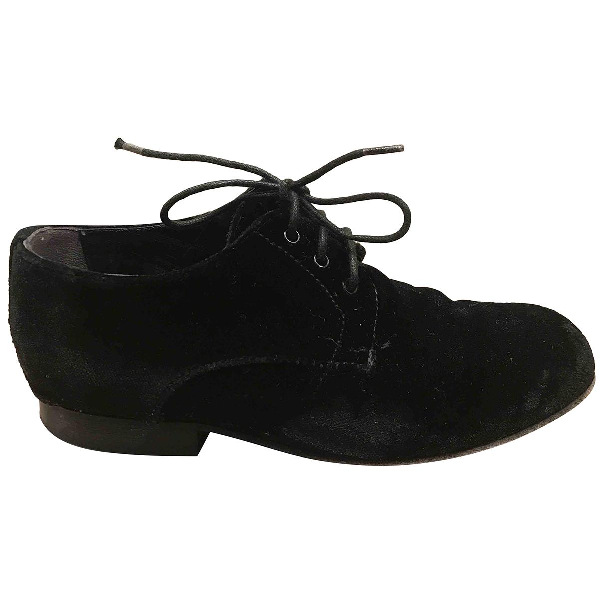 D&g - A lacets   pour enfant en velours - noir