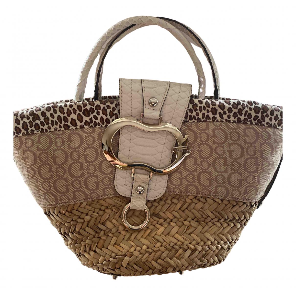 Guess N Beige Wicker handbag for Women N