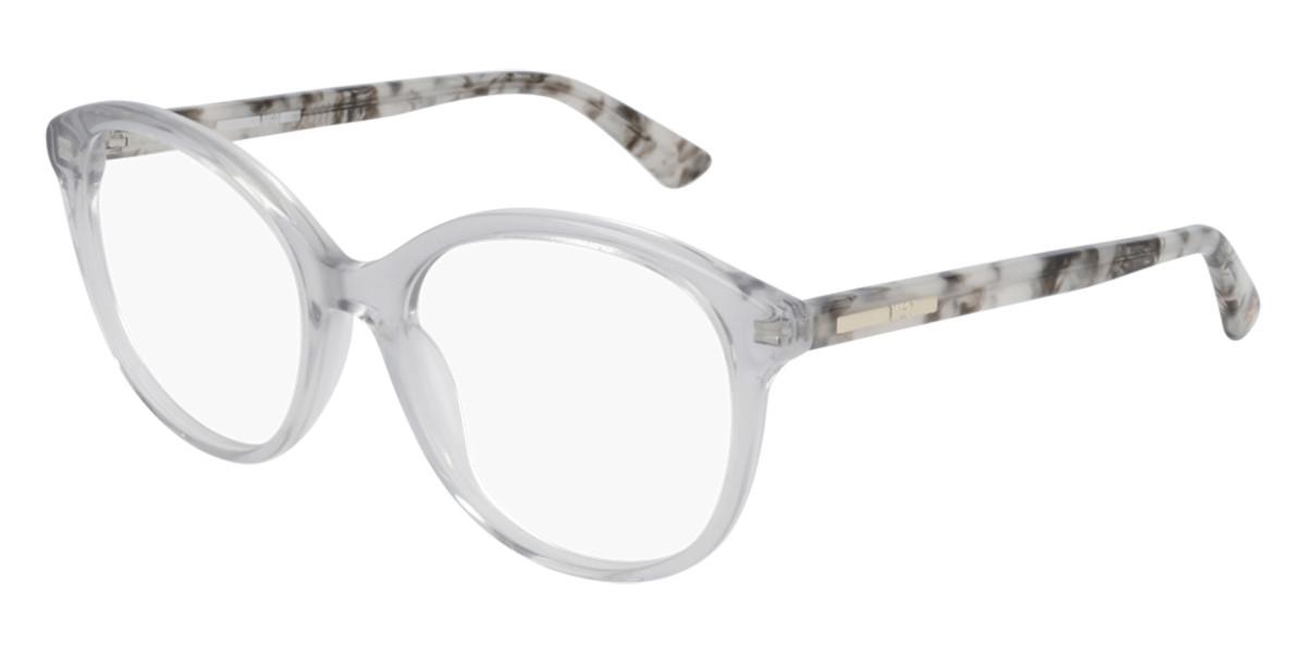 McQ MQ0275O 004 Women's Glasses Clear Size 53 - Free Lenses - HSA/FSA Insurance - Blue Light Block Available
