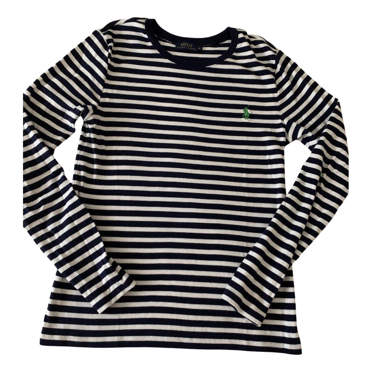 Polo Ralph Lauren - Pull   pour femme en coton - bleu