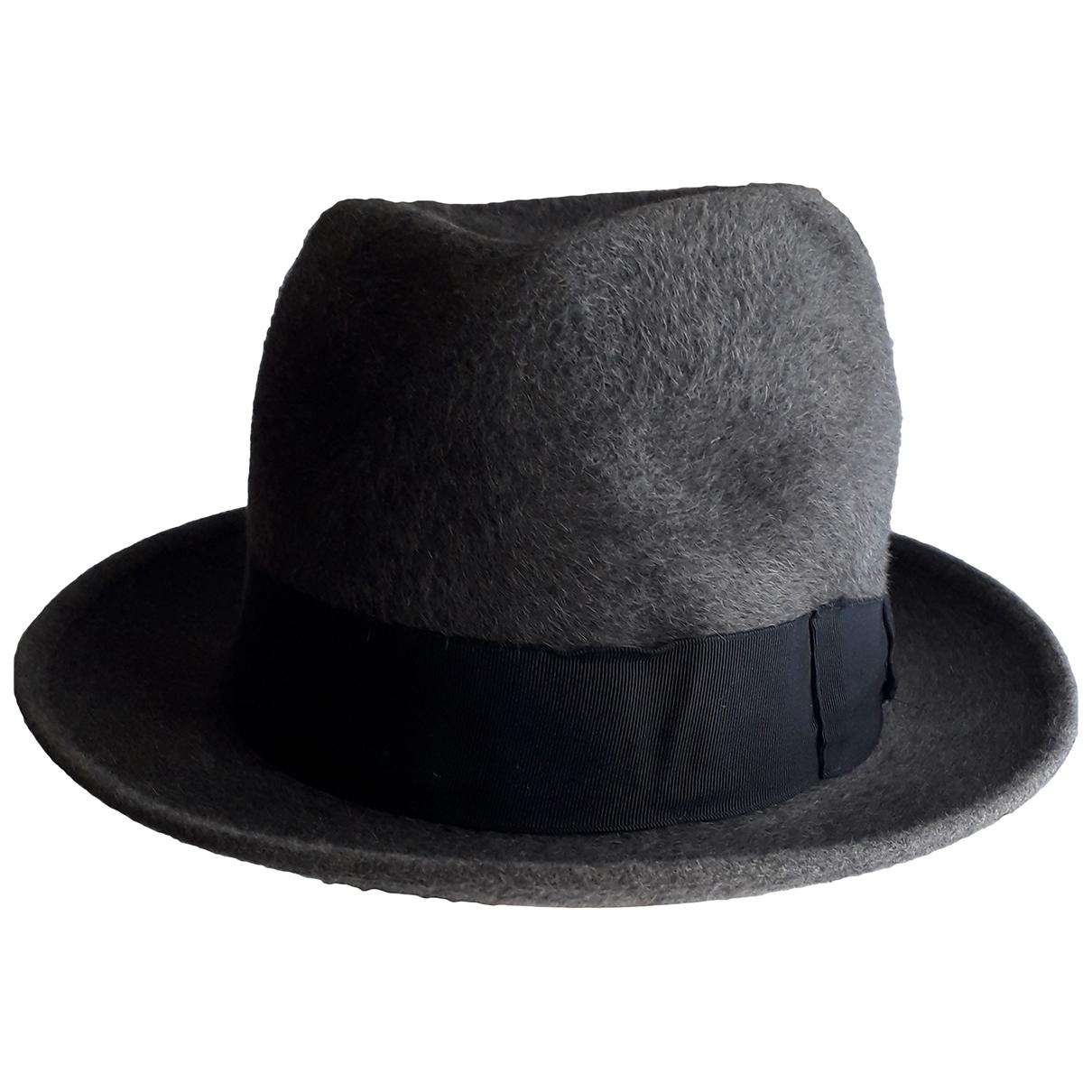 Borsalino - Chapeau & Bonnets   pour homme en lapin - anthracite