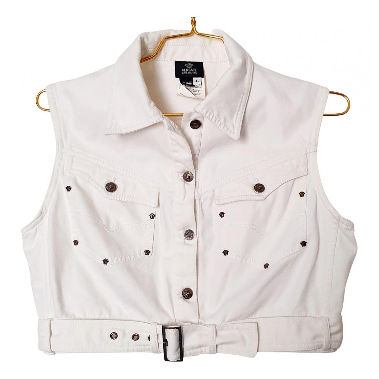 Versace - Veste   pour femme en coton - blanc