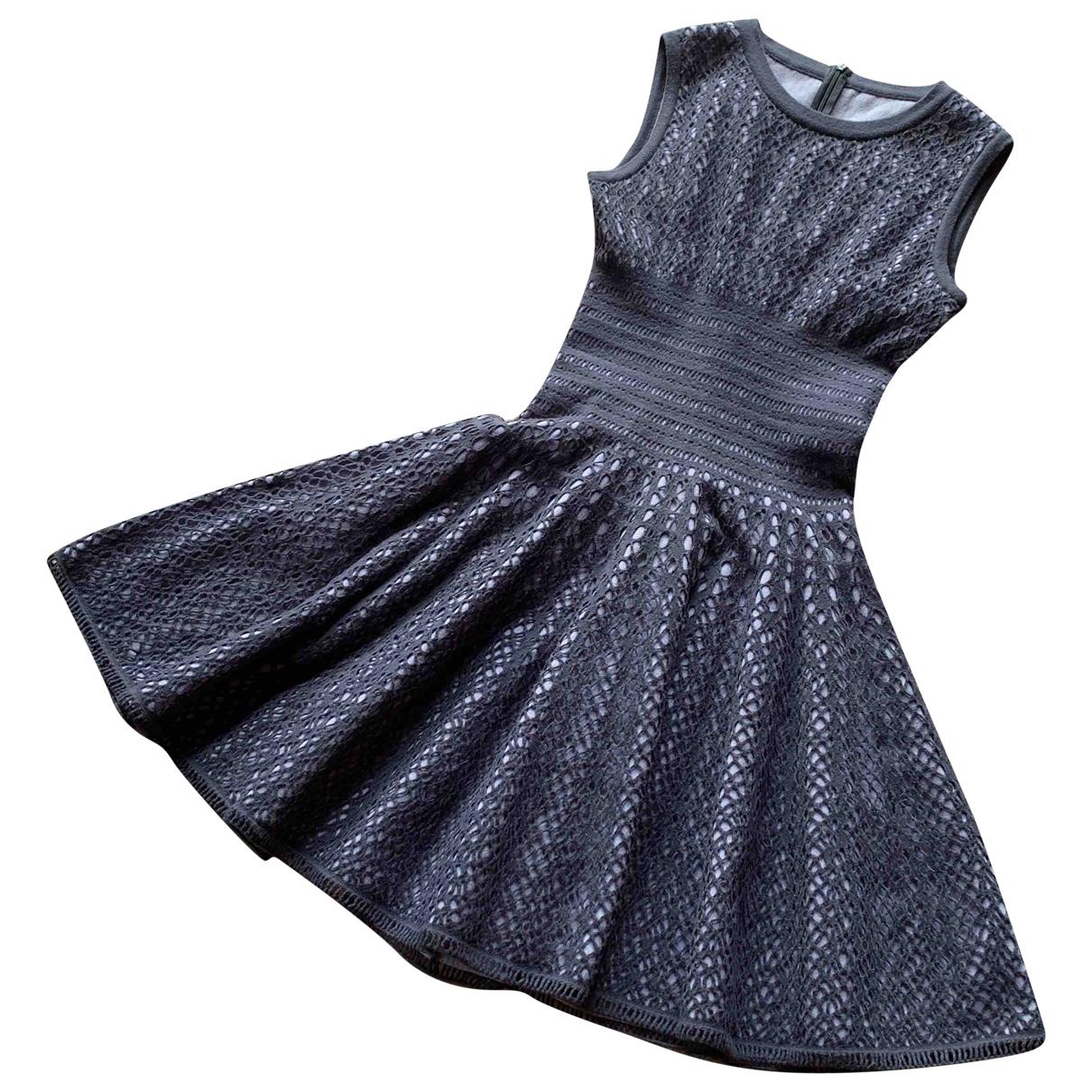 Alaïa \N Grey Wool dress for Women 40 FR
