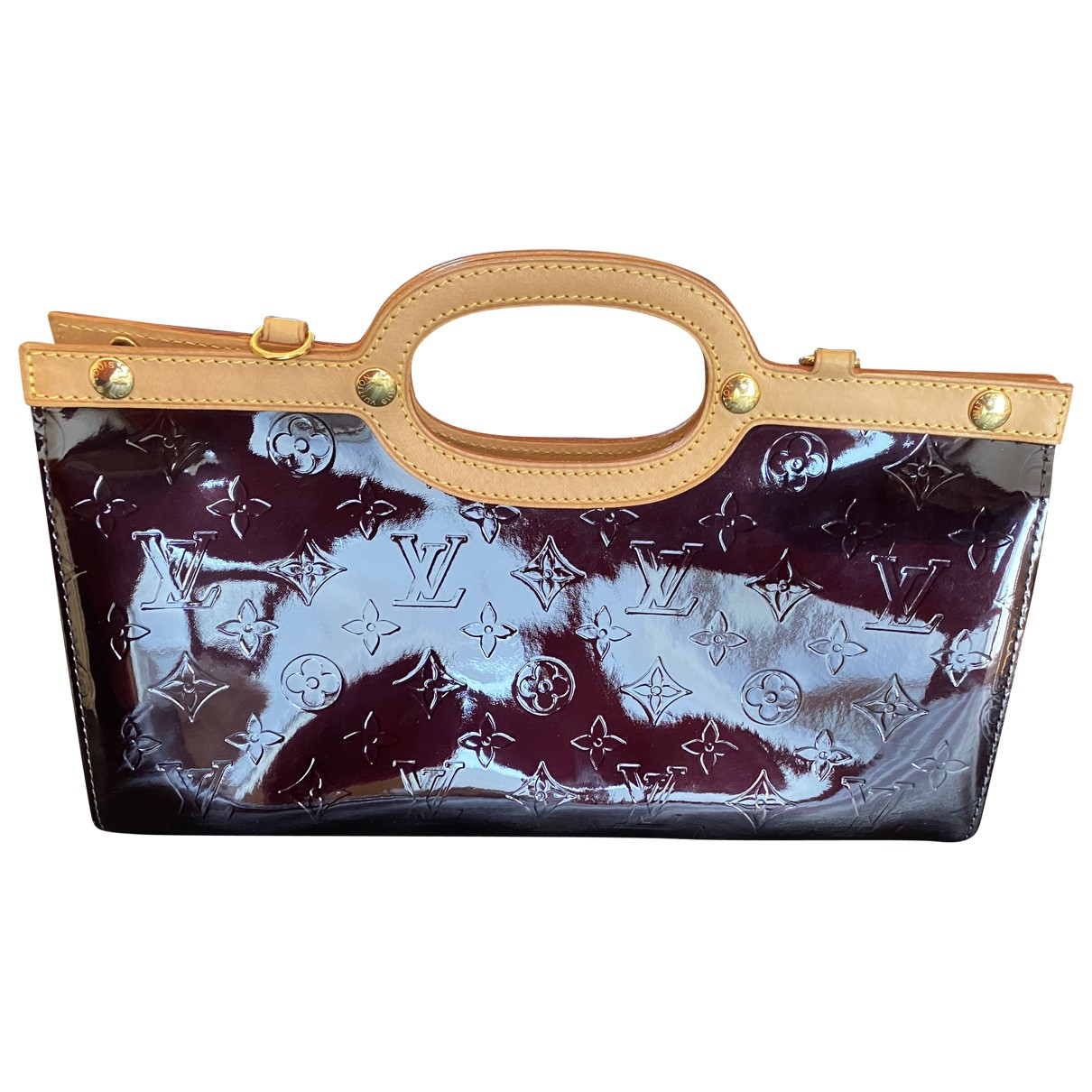 Louis Vuitton Roxbury Burgundy Patent leather handbag for Women \N