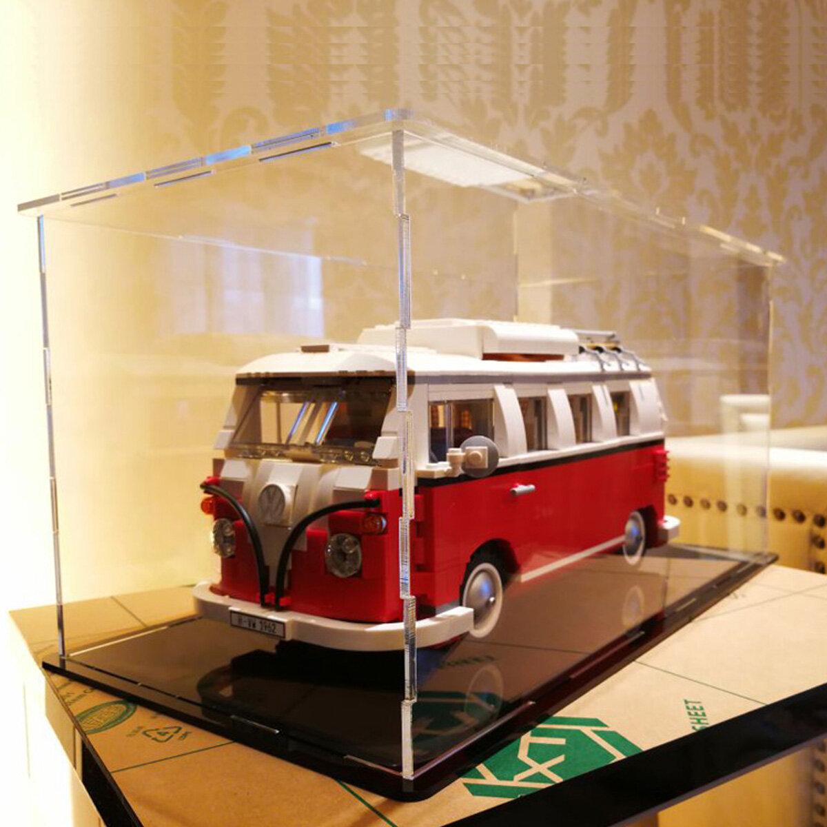DIY Acrylic Display Case For Lego VW Camper Van/Mini Cooper 10220 10242