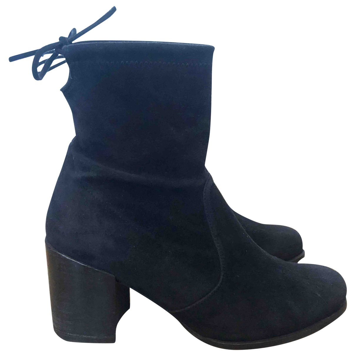 Stuart Weitzman - Boots   pour femme en suede - noir