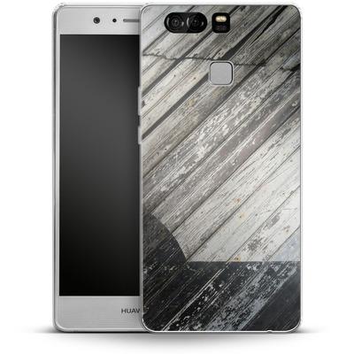Huawei P9 Silikon Handyhuelle - Diagonal Wood von Brent Williams