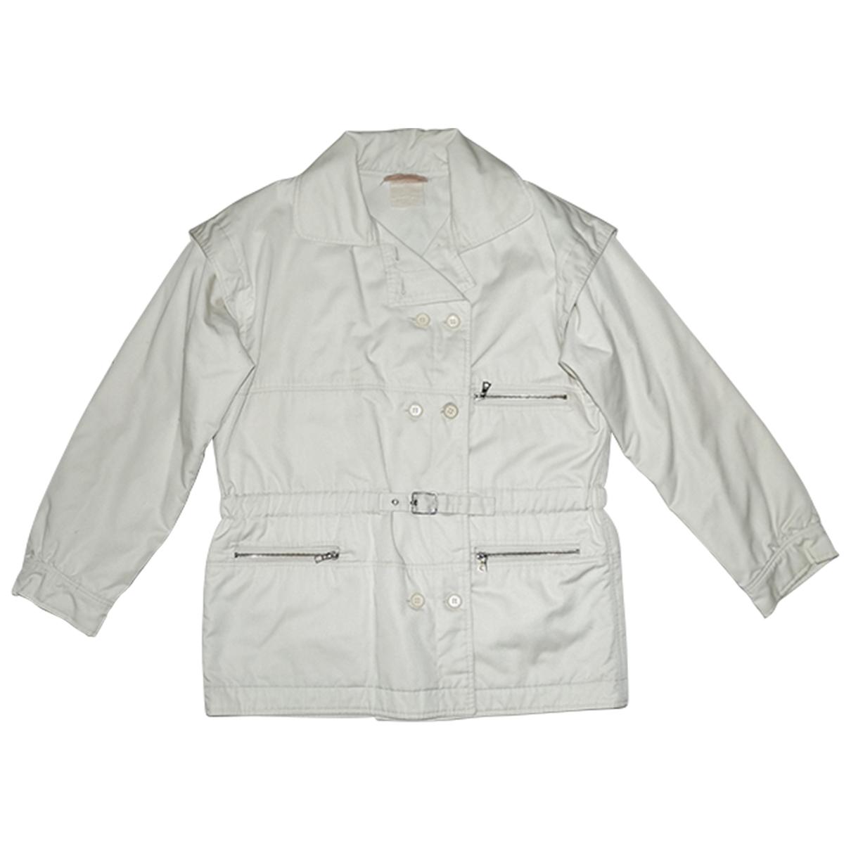 Courreges - Blouson   pour femme en coton - blanc