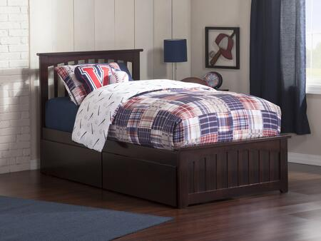Mission Collection AR8726111 Twin Size Platform Bed with 2 Urban Bed Drawers  Matching Footboard  Hardwood Slat Kit and Eco-Friendly Solid Hardwood