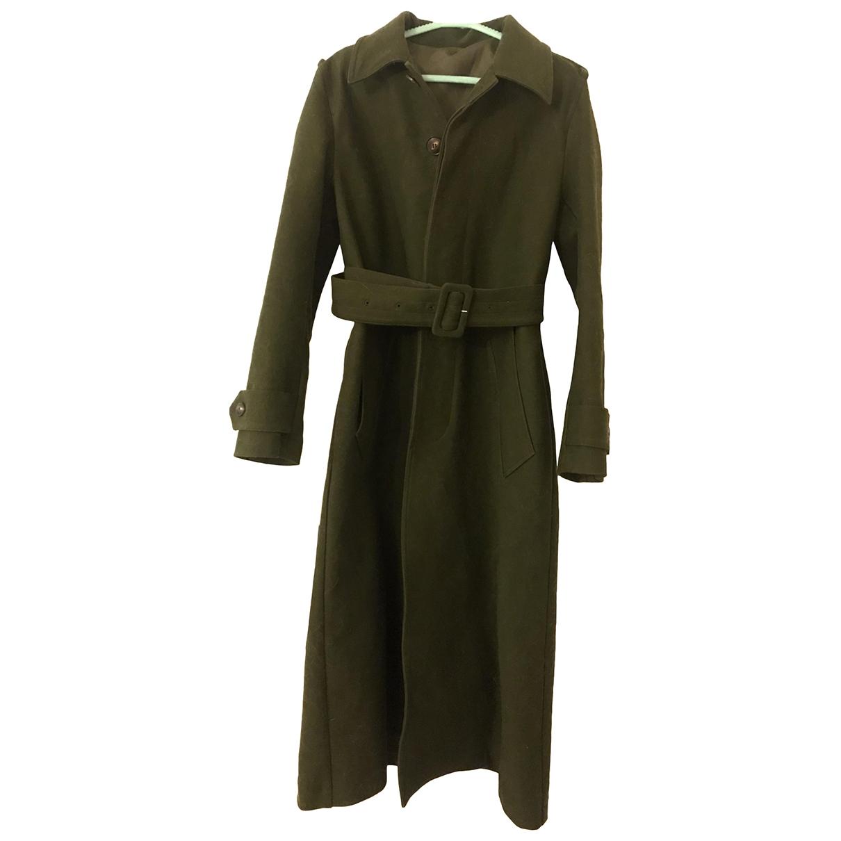 Ami - Manteau   pour femme en coton - vert