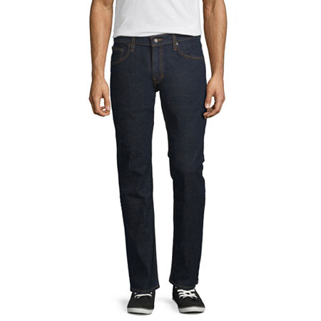 Arizona Flex Slim Straight Jeans, 40 32, Blue