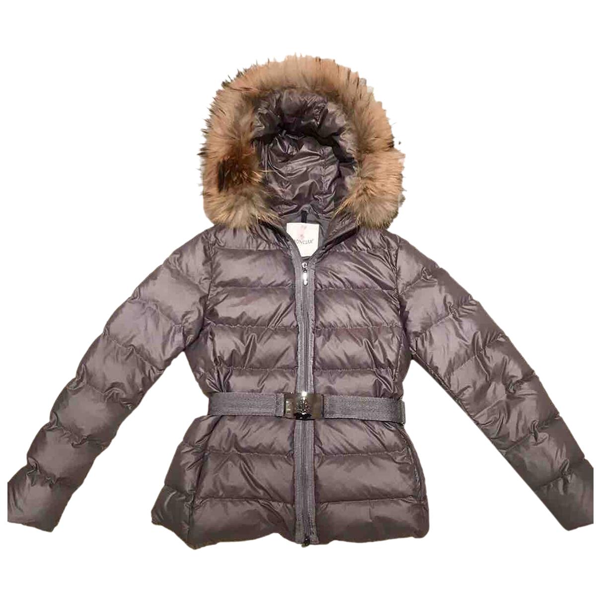 Moncler Fur Hood Grey coat for Women 1 0-5