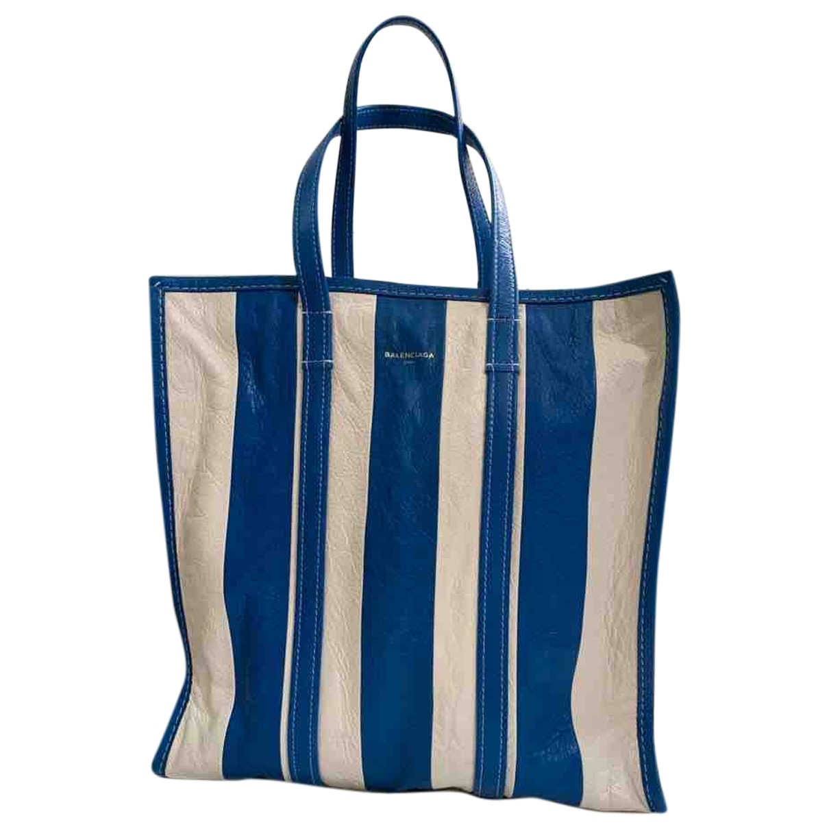Balenciaga - Sac a main Bazar Bag pour femme en cuir verni - blanc