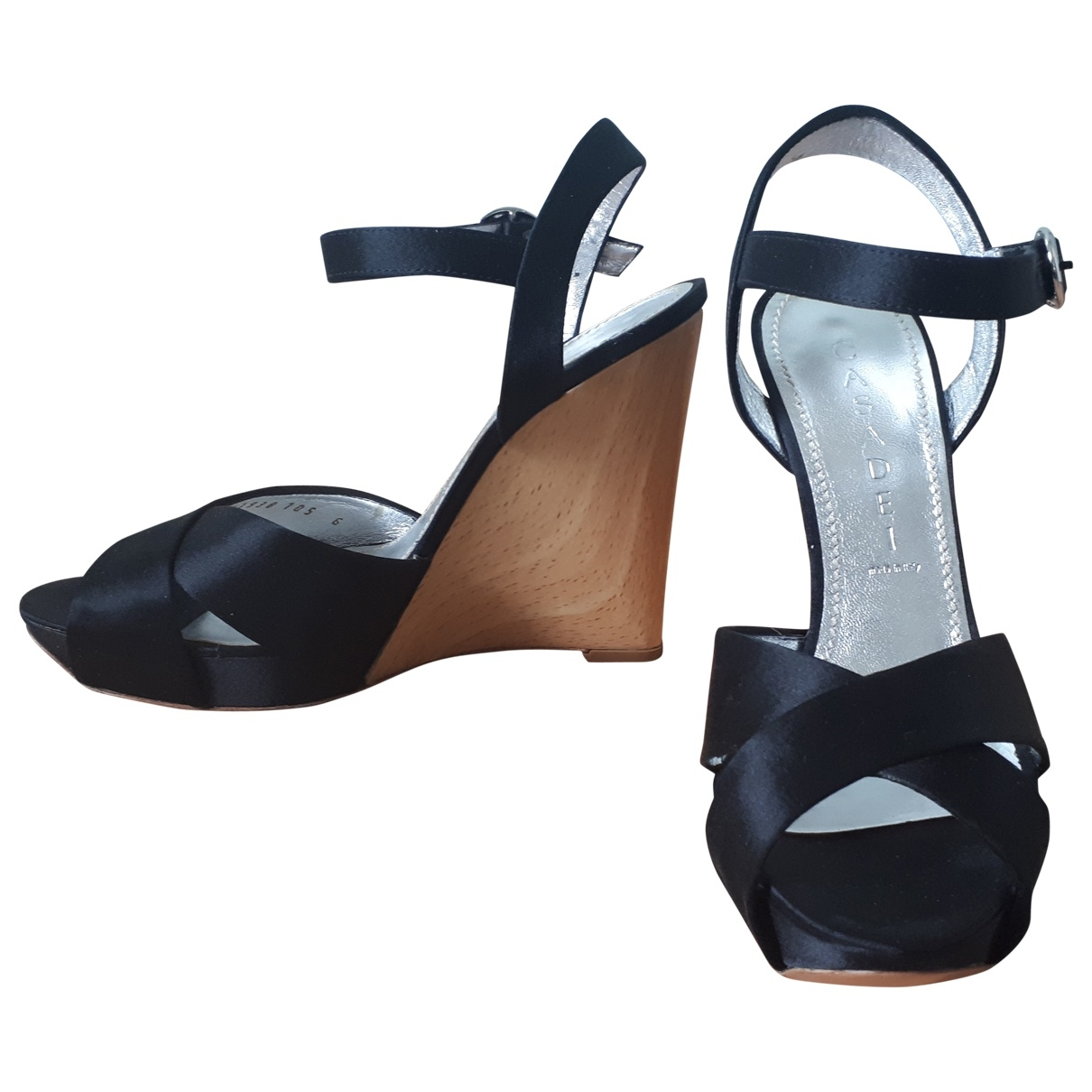 Casadei \N Black Cloth Sandals for Women 6 US
