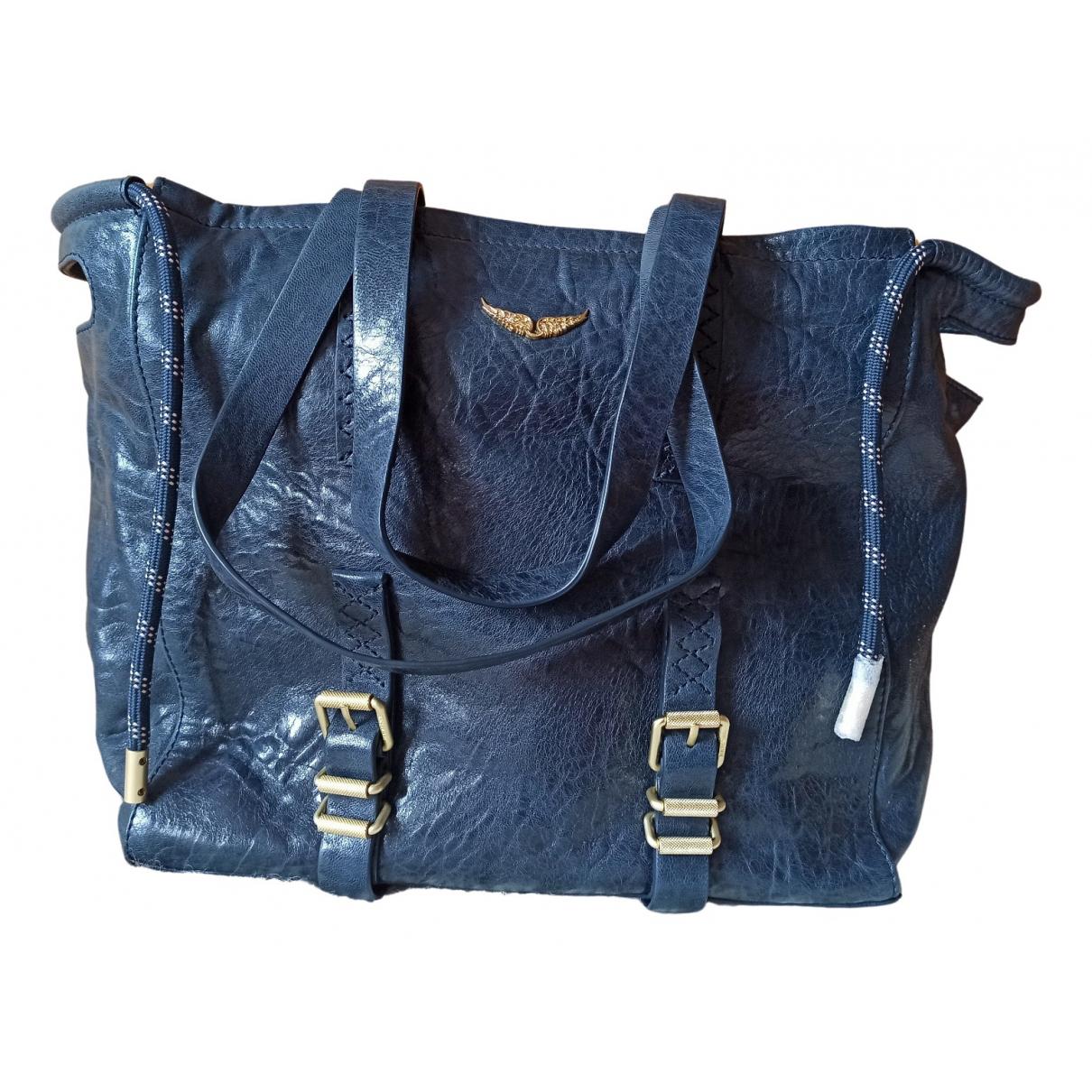 Zadig & Voltaire Fall Winter 2019 Handtasche in  Blau Leder