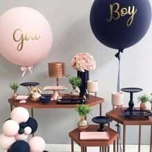 Letter Print Decorative Balloon Set 21pcs