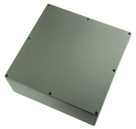 RS PRO Grey Die Cast Aluminium Enclosure, Shielded, 250 x 250 x 100mm