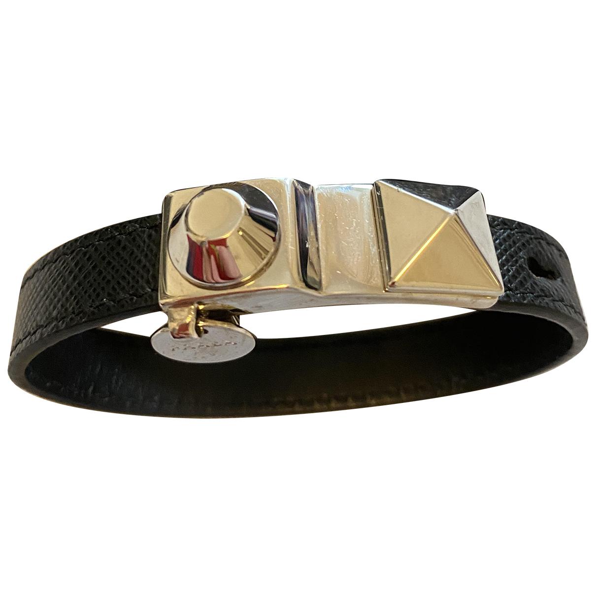Prada - Bracelet   pour femme en cuir - noir